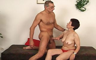 Grandma fucks his experienced lover