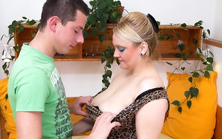 Big breasted mama fucking the guy next door