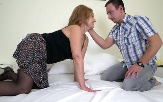 Naughty mature lsut doing her toy boy