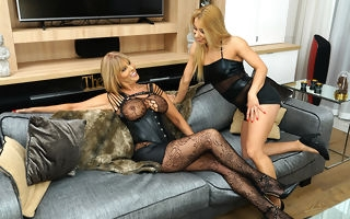 Hot MILF having great fun with a steamy lesbian mom