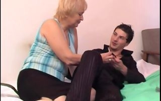 Fat ass granny pussy fucked merciless by a young stud