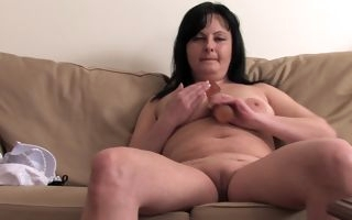 Chubby mature with video
