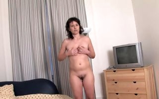 Anal sensations with her big toy for the lonely mature