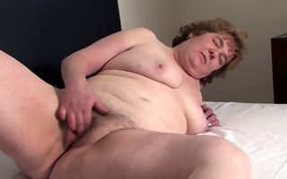 Chubby mature shares passionate moments of masturbation
