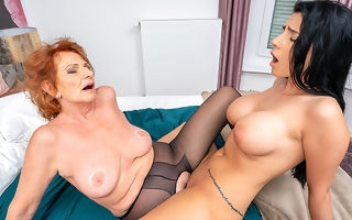 Grandma and busty video